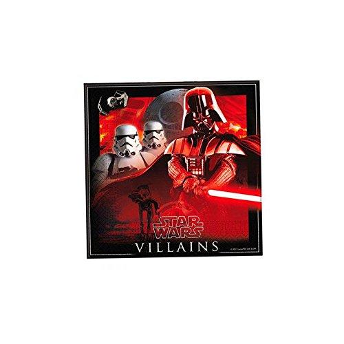 Star Wars Helden und Bösewichte Papierservietten, 33 x 33 cm, 20 Stück