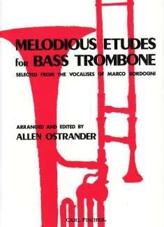 MELODIOUS ETUDES - arrangiert für Bass-Posaune [Noten / Sheetmusic] Komponist: BORDOGNI GIULIO MARCO
