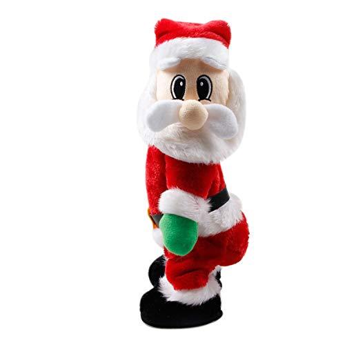 Katesid Xmas Twisted Wiggle Hip Twerking Christmas Santa Singing Electric Toy (Spanish)