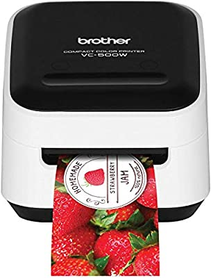 Brother VC-500W Versatile Compact Color Label and Photo Printer with Wireless Networking