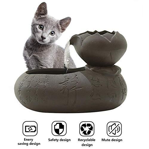 arthomer Katzen Trinkbrunnen Keramik Wasserbrunnen Automatischer Zirkulations Smart Pet Brunnen-beweglicher Verschiedene Verunreinigungen Zu Filtern 17,5 17,5 13cm