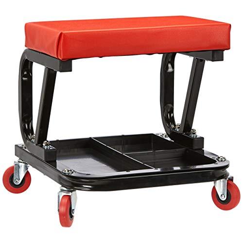 AmazonBasics Rolling Creeper, Garage/Shop Seat with 300-Pound Capacity - Black