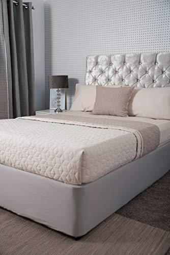 Belledorm Tour de lit 100 % jersey de coton, motif nuage, pour lit simple