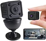 FiveSky 4K HD Mini caméra cachée sans Fil WiFi Les Plus Petites caméras de sécurité avec Application Micro Nanny Cam Vision Nocturne Alertes activées par Le Mouvement Caméras de Surveillance secrètes