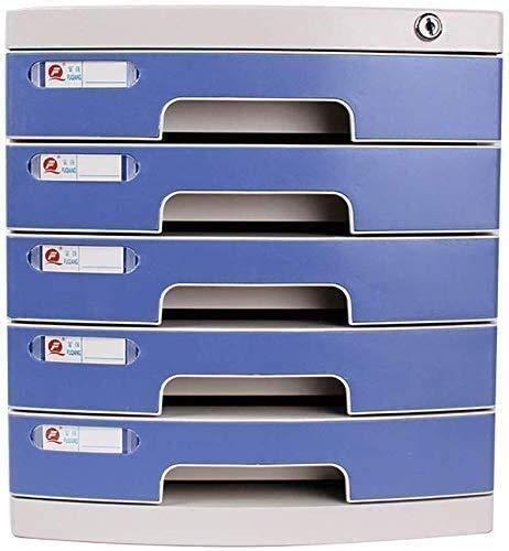 MTYLX Archivo Gabinete/Bastidor, Caja de Alenamiento Archivo Gabinete Dries Gabinete 5 Cajones de Escritorio de Plástico con Bloqueo de Plástico Muebles de Plástico Muebles de Alta Capacidad Puede