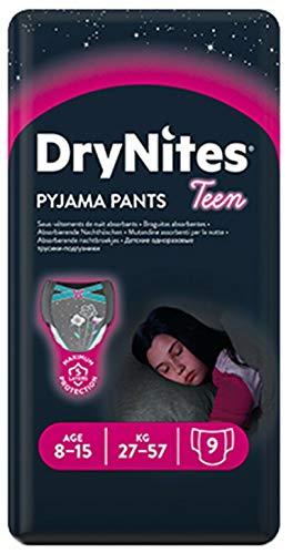 DryNites - Pyjamahose, Mädchenwindeln, 8-15 Jahre, 2 Packungen mit 3 x 9 Windeln