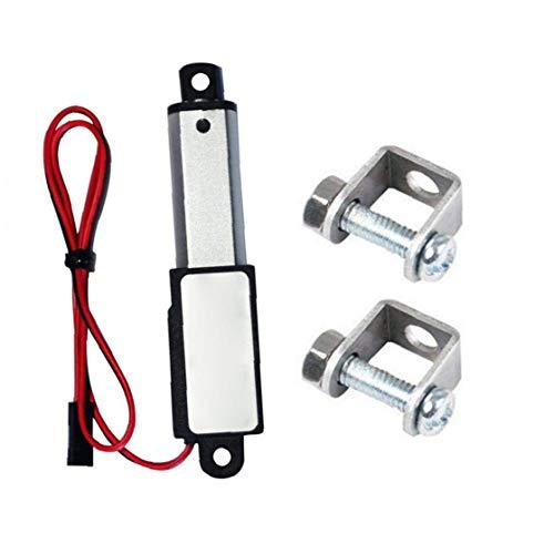 Newin Star Micro actuador Lineal eléctrico Mini Impermeable con Soportes de Montaje 12V 60N Stroke 15 mm Longitud 50 mm Velocidad con Soportes de Micro actuador Lineal