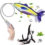 G.C Peces de Juguetes Gatos interactivos, Pez para Gatos Manual, Catnip Pescado Gato Juguete, Simulación Realista de Felpa Pez, Mascotas Interactivo de Felpa Pez para morder, Masticar y patear