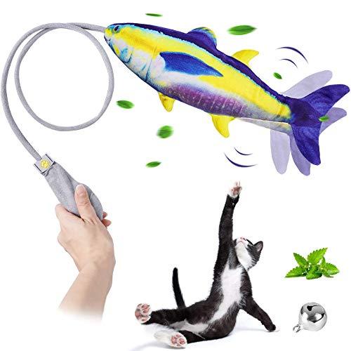 G.C Pesce Giocattolo per Gatto Catnip Gatto interattivo Giocattolo, Simulazione Peluche di Pesce, da mordere e Masticare, Giochi Gatto Pesce Che Si muove