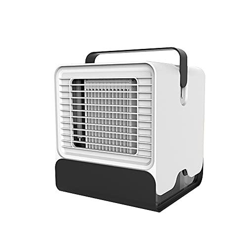 Weytoll Mini ventilatore portatile per condizionatore d'aria USB Desktop Cooler per l'ufficio Dormitorio Raffreddamento Ventola mobile con luci a LED