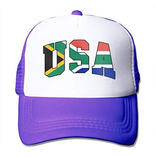 South African Flag USA Adjustable Mesh Trucker Baseball Cap Men/Women Hip Hop Hat Comfortable1852