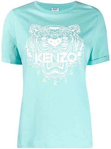 Luxury Fashion | Kenzo Dames FA52TS8244YI60 Blauw Katoen T-shirts | Lente-zomer 20