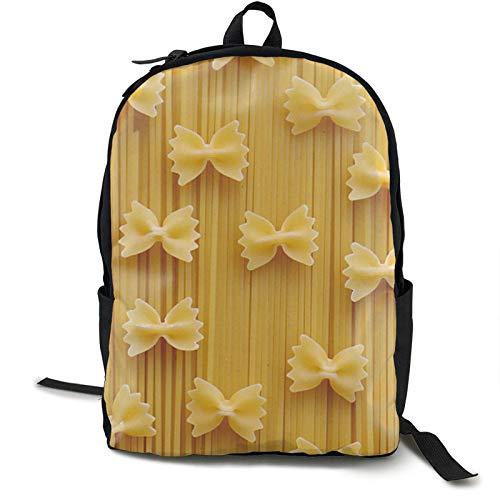 XCNGG Unisex School College Students Bookbag Lässiger leichter Laptop-Rucksack Reise- und Sportrucksack Rucksack für Schule, Reisen, Wandern, Pasta Nudeln gedruckt