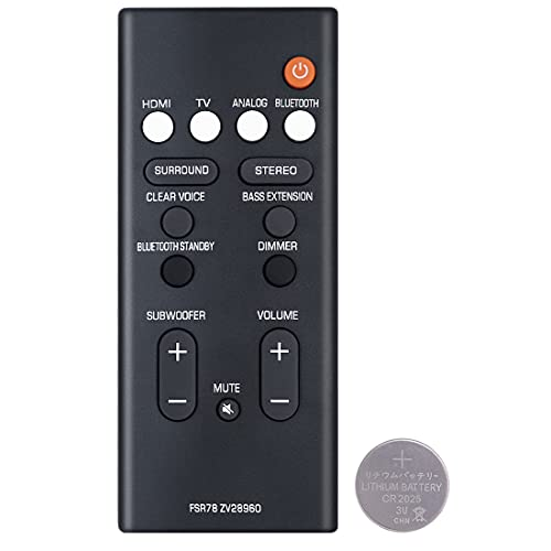 Mando a distancia de repuesto FSR78 ZV28960 para Yamaha ATS-1060 ATS1060 ATS-1070 ATS1070 YAS106 YAS-106 YAS207 YAS-207 YAS107 YAS-107 Sistema de barra de sonido Bluetooth de alta fidelidad