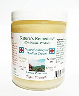 100% Natural Antiseptic Healing Cream: Dr. Recommended, 5X Faster Healing, Wounds, Infected Skin, Bed Sores, Diabetic Ulcers, Neuropathy, Burns, Eczema, Psoriasis, Itchy Skin, Shingles, Res Q Ointment