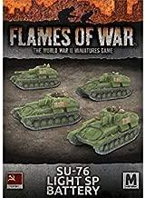 Flames of War - WWII - Soviet - Tanks SU-76 Light SP Battery SW