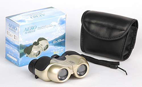 Kenko双眼鏡AEROMASTER8×18miniポロプリズム式8倍18口径軽量コンパクトゴールド97613