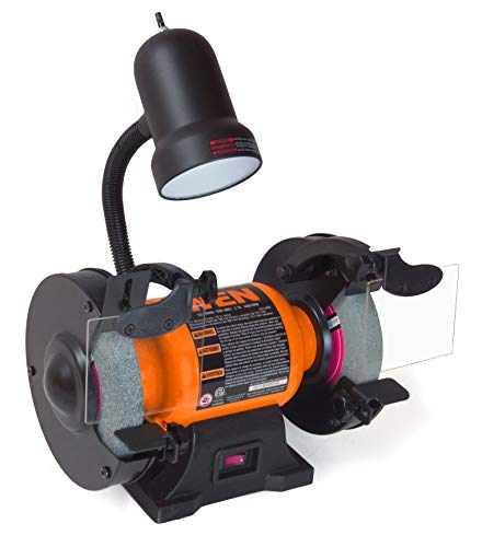 6-Inch Bench Grinder with Flexible Work Ligh