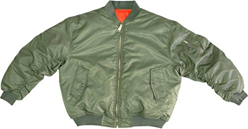 Army Universe Sage Green MA-1 Military Flight Jacket, Air Force Bomber Pilot Jacket [Chest Size 45'-49'] (X-Large)
