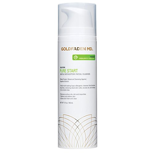 GOLDFADEN MD Pure Start Gentle Detoxifying Natural Facial Cleanser, 5 Fl Oz
