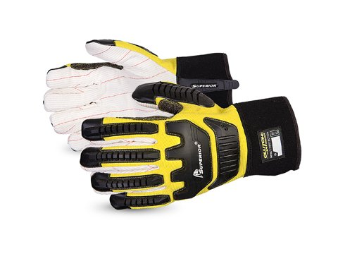 Superior Anti-Impact Gloves with Kevlar-Reinforced Thumb and Thinsulate Winter Fleece Lining – Protective Work Gloves (Q18VSB) - Medium