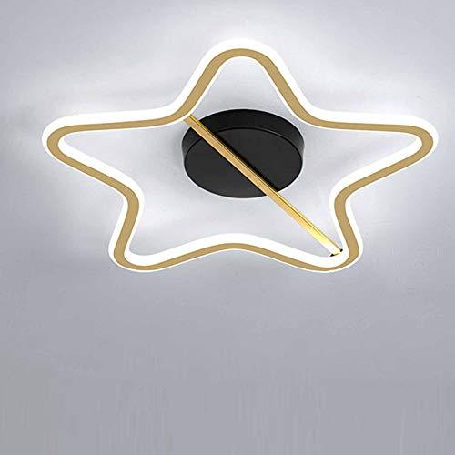 LANTING moderno Lámpara de techo LED oro Luz de Plafón Regulable Con control remoto 3000K_6000K creatividad Cinco puntas estrella Iluminación de techo Para Cuarto de los niños Cuarto 63W Ø50*H5CM