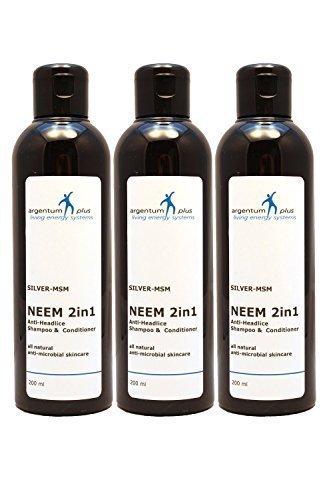 Champú y Acondicionador Neem 2en1 anti-piojos de la cabeza