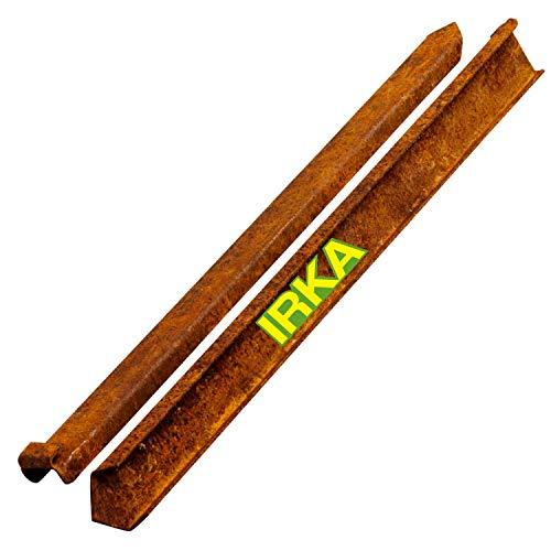 IRKA Erdanker aus Corten Stahl Edelrost Erdspieß für Rasenkanten Rasenkantenband