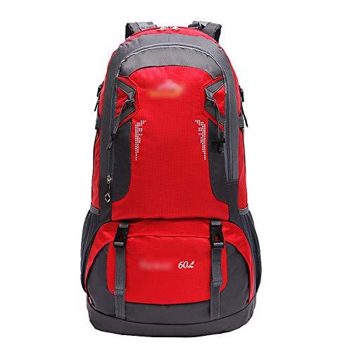 ZEVONDA Zaino da Hiking 60 Litri - Zaino Casual Multifunzionale Leggero Campeggio Ciclismo Viaggi Arrampicata Alpinista Sport Daybag Borsa, Rosso