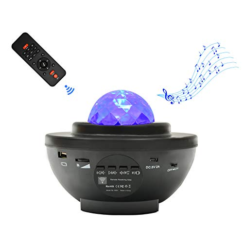 スタープロジェクターライト ベッドサイドランプ 「最新版&リモコン式」 2in1投影効果 21種点灯モード Bluetooth スピーカー Bluetooth5.0/USBメモリに対応 タイマー機能 音声制御 輝度/音量調整可 ロマンチック雰囲気作り クリスマス ハロウィン パーテイー飾り お子さん 彼女にプレゼント 誕生日ギフト 日本語説明書付き