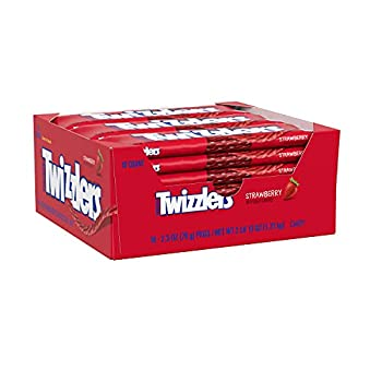 TWIZZLERS Twists Strawberry Flavored Chewy Candy Bulk 2.5 oz Bags  18 Count