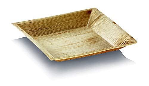 25 Assiettes Carrées Palmier Cuadra - 18 x 18 cm