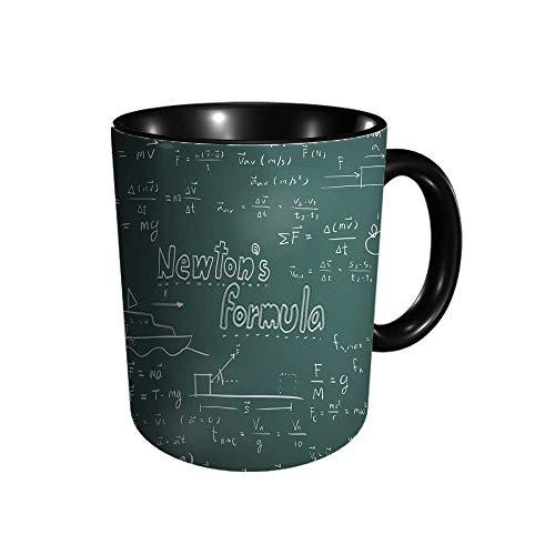 DJNGN Newton Law and Physics Fórmula matemática Equati Taza de cerámica Café Té Regalo Regalo Navidad Navidad 11 oz