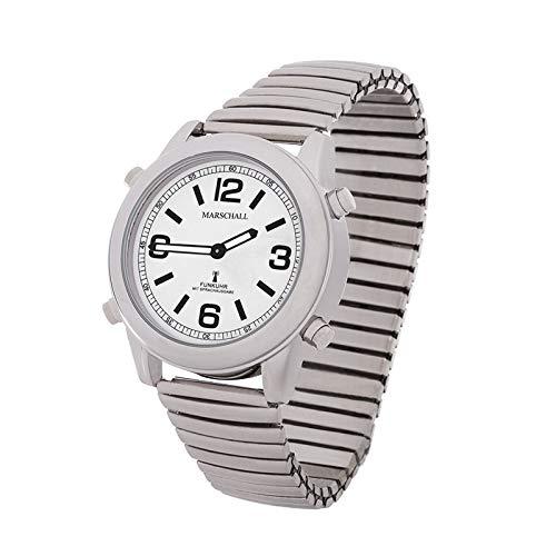 Sprechende Funk-Armbanduhr Damen & Herren Metall-Zugarmband Stile Herrenuhr