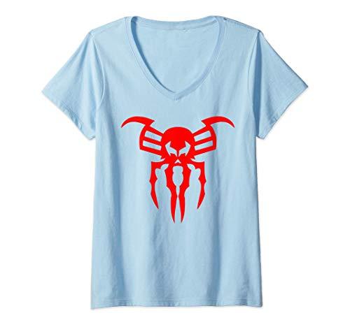 Mujer Marvel Spider-Man Edge Of Time Video Game Logo Camiseta Cuello V