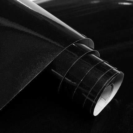XY399 degrees 3/5 mt / 10 mt Weiße Farbe wasserdichte Vinyl Dekorative Folie Selbstklebende Tapetenrolle Für Küchenmöbel Aufkleber PVC Home Decor-in Tapeten Von Heimwerker Schwarz 60 cm x 10 mt