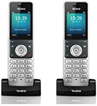 Yealink W56H Bundle of 2 IP DECT VoIP Phone Handset, HD Voice, Quick Charge photo