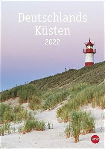 Deutschlands Küsten Kalender 2022 - Wandkalender mit Monatskalendarium - mit Platz für Termine und Notizen - 12 Farbfotos - 25 x 33,5 cm