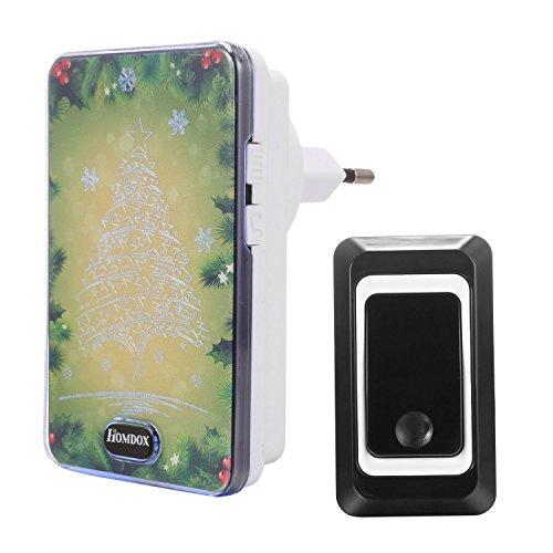 Homdox Wireless Campanello Campanello Pulsante Custodia impermeabile Porta Campana del gioco