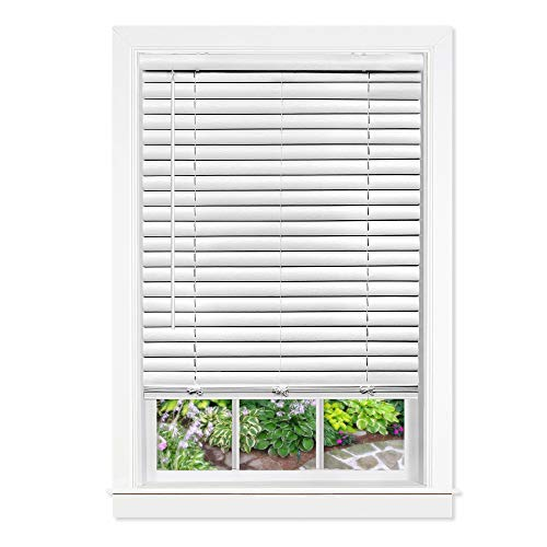 Achim Home Furnishings, White Cordless GII Luna 2' Vinyl Venetian Blind, 35' x...