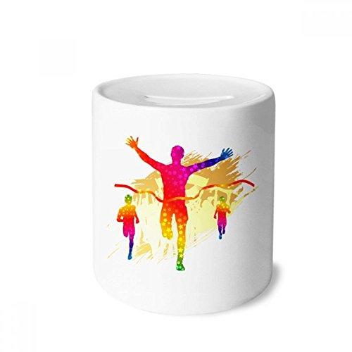 DIYthinker Objetivo del Futbolista de la alegría del patrón Caja de Dinero de Las Cajas de ahorros de cerámica Adultos Moneda de la Caja para niños