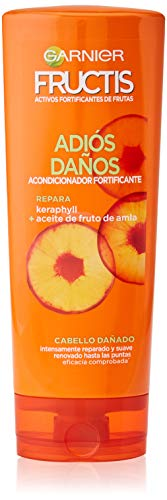 Garnier Fructis Adiós Daños Acondicionador Fortificante y Reparador, con Keraphyll y Aceite de Fruto de Amla - 250 ml