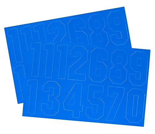 A & R Sports Nummer Aufkleber, 2Zoll, königsblau