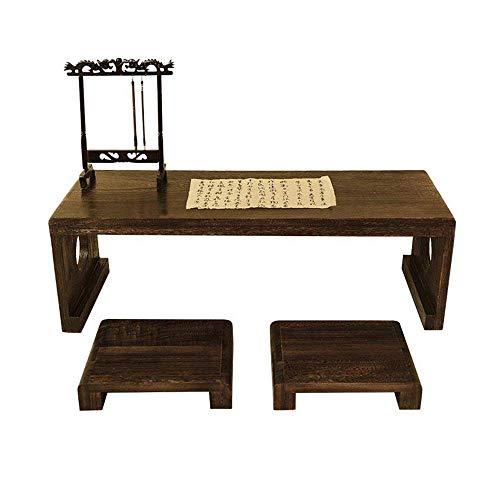 ZLININ Estudio Teórico Niños Juego de sillas de madera maciza antiguo jardín de infancia de la caligrafía clásica mesa sillas for niños Doble Estudiante turística for el entrenamiento del estudio en e