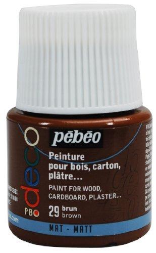Pébéo 204029 29 Brown - Pintura acrílica (Mate, 45 ml), Color marrón