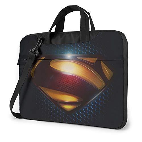 Su-Per-Man 13-15.6 Inch Laptop Sleeve Case Laptop Shoulder Bag, Slim Computer Carry Case Polyester Briefcase Sleeve with Adjustable Shoulder Strap