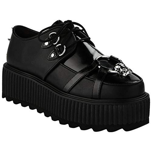 Killstar Zapatillas de plataforma Skeleton Creepers, color Negro, talla 42 EU