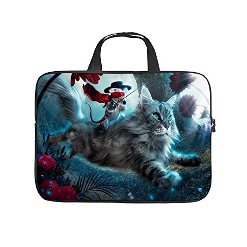 Universal Laptop Computer Tablet,Bag,Cover for, Apple/MacBook/HP/Acer/Asus/Dell/Lenovo/Samsung, Laptop Sleeve,Animals Cats Fantasy Art Mice,17inch