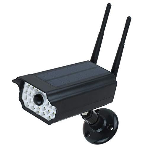 Liery Outdoor Kamera, IP66 wasserdichte Simulierte Kamera Menschliches PIR-Induktions-Solarenergie-Versorgungsmaterial Eingebaute 18650 Batterie-gefälschte Blinde