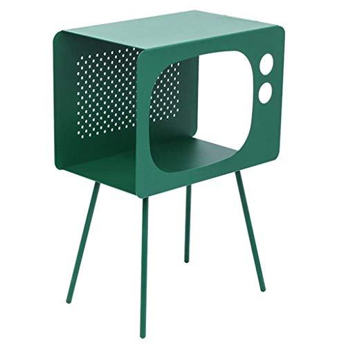 Escritorio de oficina en casa Nórdicos s mesa de centro modernas Mesas sofá mesa de la esquina sofá mesa de metal creativa salón ventaja a los locales de noche retro lado Nest (Color: rosa) escritorio